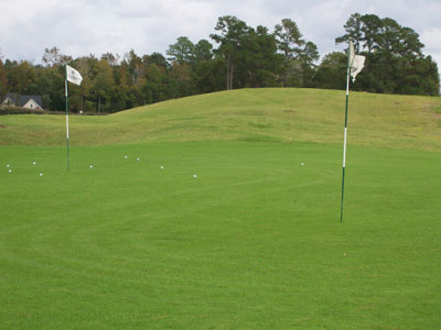 Practice facility and driving range at Coosaw Creek Country Club in North Charleston, SC